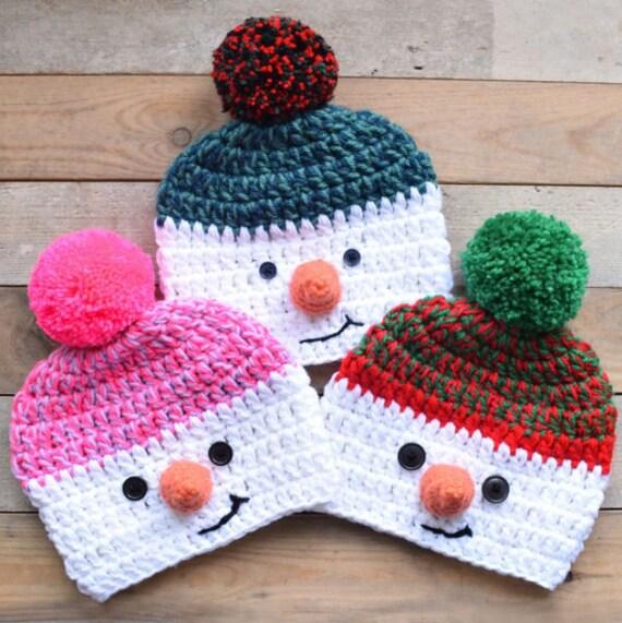Bonhomme de neige b b bonnet casquette crochet lhiver au - Bonhomme de neige au crochet ...