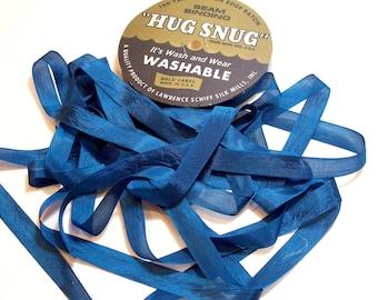 Hug Snug Blue Rayon Seam Binding 1/2 inch wide x 100 yards, Forum Teal Seam Binding