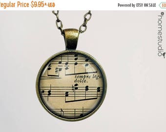 ON SALE - Music : Glass Dome Necklace, Pendant or Keychain Key Ring. Gift Present metal round art photo jewelry by HomeStudio