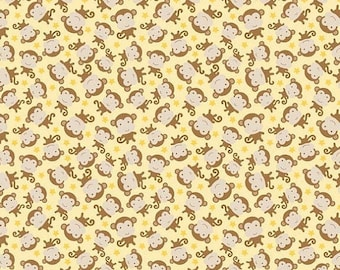 20EXTRA 50% OFF Snips and Snails Monkey Yellow - 1/2 Yard