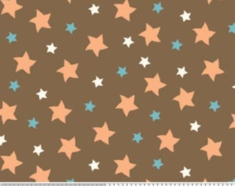 20EXTRA 50% OFF Mod Tod Brown Stars - 7/8 Yard