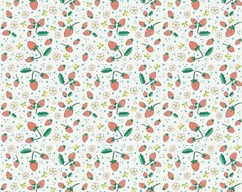 15% OFF Penny Rose Fabrics Bunnies and Blossoms Strawberries Cream