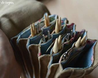 Interchangeable Knitting Needle case needle case needle holder needle organizer