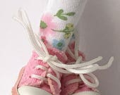 Little Pink Flowers For You And Me...Short Socks For Blythe...