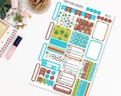 Camping Mini Weekly Planner Sticker Kit for Plum Paper Family (ME) Planners 7 x 9/ Functional Stickers/ Checklists  #335