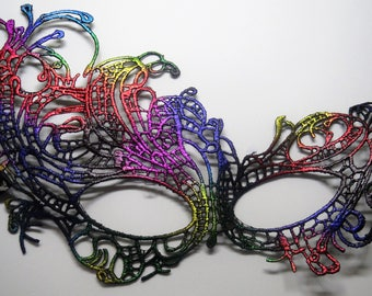 Lacy multi colored Eye Mask