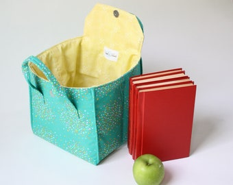 Insulated Lunch Bag in Nature Walk - Insulated Lunch Tote - Bento Box Carrier - Ready to Ship