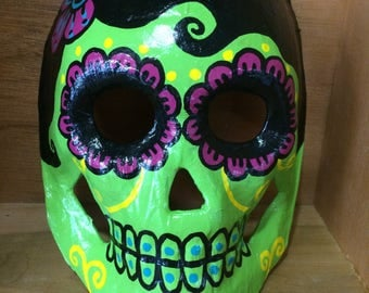 Day of the Dead handpainted sugar skull mask