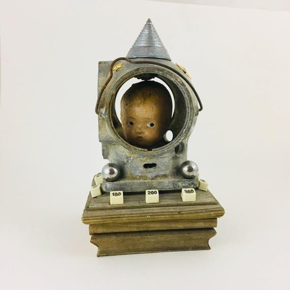 Bobble-Head Diver Vintage Doll Assemblage