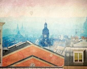Rooftops View, Paris Photography, Paris Rooftops, Paris Rooftops Photo, Paris bedroom decor, French art, paris print,paris decor, paris art