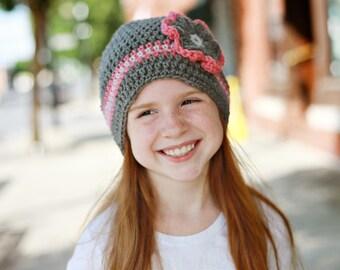 CROCHET PATTERN - CV125 The Natalie Hat - 8 sizes - Newborn to Mens - PDF Download