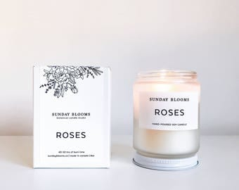 Roses Soy Candle