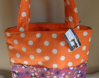Casper the Friendly Ghost and Polka Dots Large Halloween Tote Bag Purse NEW PRINT