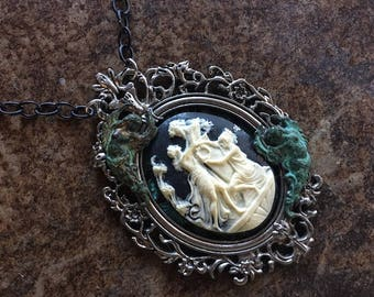 Pendant Necklace Classic Cameo Steampunk Victorian Art Deco Angels