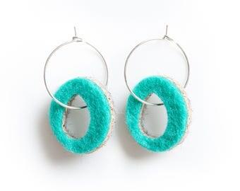 Strata Hoop Earrings