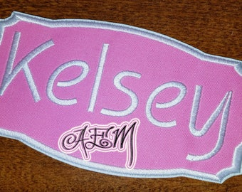 Personalized Embroidered Applique Iron On Name Patch Name Tag
