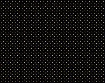 Swiss Dot Color Black-Gold Sparkle (SC670 Black-Gold)