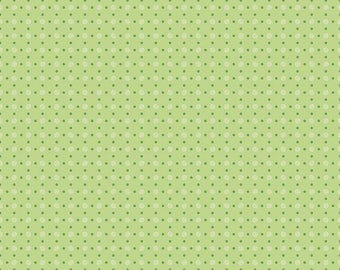 Bee Basics By Lori Holt Polka Dot Green (C6405-Green)