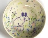 LEAFY LUNCH wheel thrown ceramic Salad BOWL
