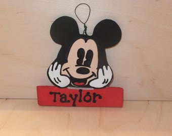 Mickey Mouse Christmas Ornament - Personalized