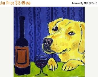 20 % off storewide Harrier at the Wine Bar Dog Art Tile Coaster Gift