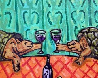 20 % off storewide Turtles at the Wine Bar Animal Art Tile Coaster