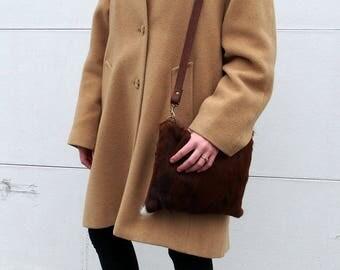 Cowhide Leather Cross Body Bag
