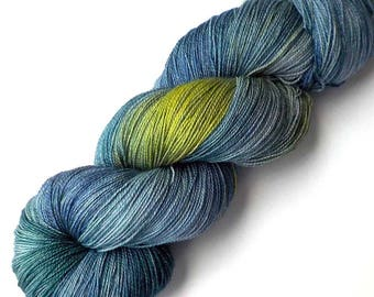 SALE Lace Yarn Hand Dyed Yarn Superwash Merino - Storm on the Horizon, 960 yards