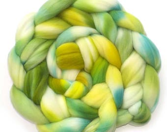 Rambouillet Hand Dyed Roving Combed Top Spinning Fiber - New Riverside, 5.4 oz.