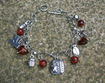coffee lover's charm bracelet