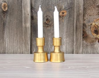 Jens H. Quistgaard for Dansk Brass Candle Holders.  Made in Finland