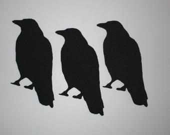 9 Crow Raven Iron On Appliques Pick Size