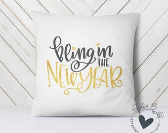 New Years SVG Bling in the New Year Cricut SVG Files