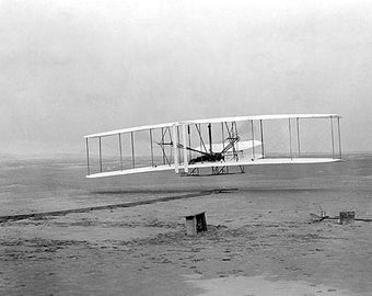 Wright Brothers First Flight Photo