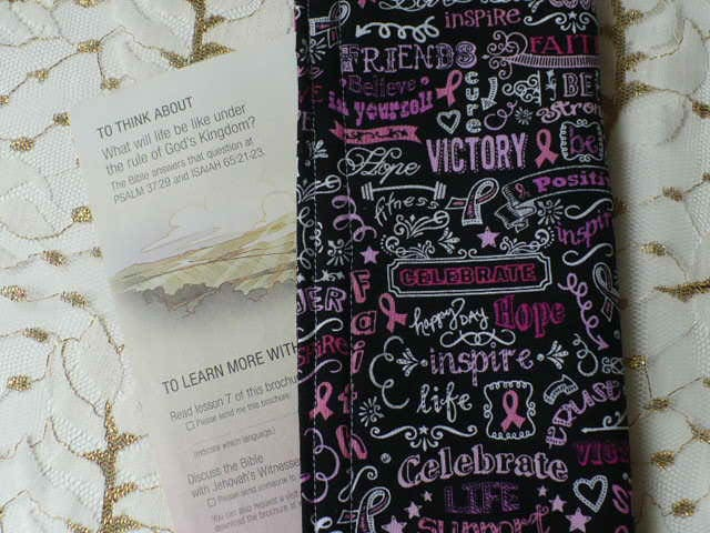service ministry organizer tract holder pink and black quotes clutch wallet magazine holder - Field Service Organizer