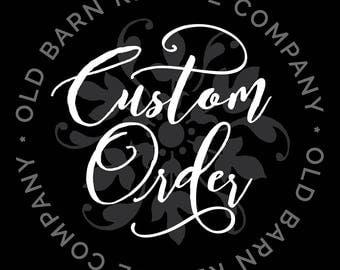 Custom order for amberrose5689 - wall deca