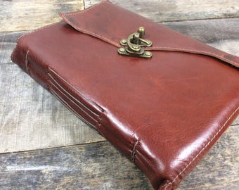 Latch Leather Journal in Saddle Brown - LG