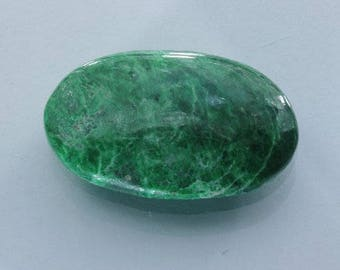Burmese Green Maw Sit Sit Untreated Cabochon Mawsitsit Gemstone 32mm 40.27 carat