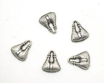 5 charm - purse - silver