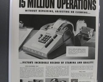 "Off  127     ""  Victor Adding Machine    ""  Ad - October  1953"