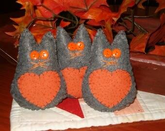 Fall Kitty Ornaments OFG, AB4B, ornies, bowl fillers