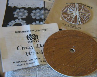 Vintage Polka Spider Web Lace Making Kit