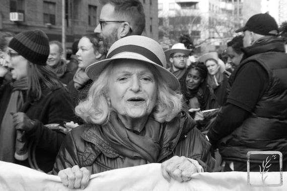 """Go Away,"" New York City Women's March, 2017."