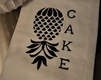 Pineapple Upside Down Cake Tea Towel