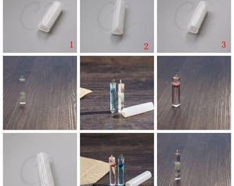 One Piece Silicone Mold For Rectangular Tube Silicone Pendant - Square Tube - Triangle - Tube - DIY Pendant