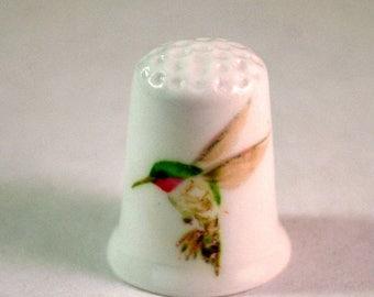Collectible Thimbles, China Thimble, Handmade Thimble, Thimble Collection, Hummingbird Thimble