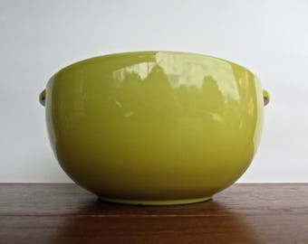 Lugged Deep Yellow Porcelain Bowl, Ceramics of California, Giant Deep-Yellow Pottery Bowl, MCM California Pottery