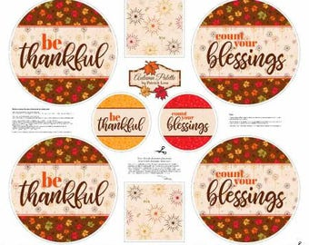 FABRIC Panel PLACEMATS THANKSGIVING and Mini Mats    We combine shipping