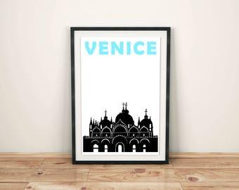 Venice Print // Italy Print // Italian Gifts // Italian Art // Venice Poster // Venice Art // Italy Art // Venezia // Italian Decor