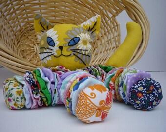 Yo Yo calico CAT baby kitten nursery room decor fabric quilt  gift